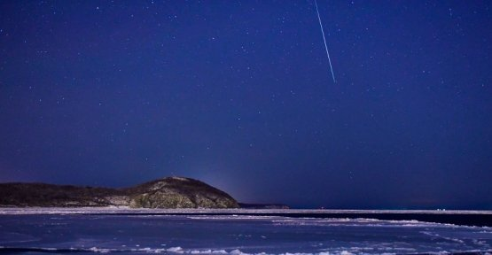 Geminids-meteor shower Christmas time falling star time is
