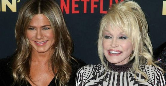 Jennifer Aniston, and Dolly Parton: Two Times the glitter Look on the red carpet