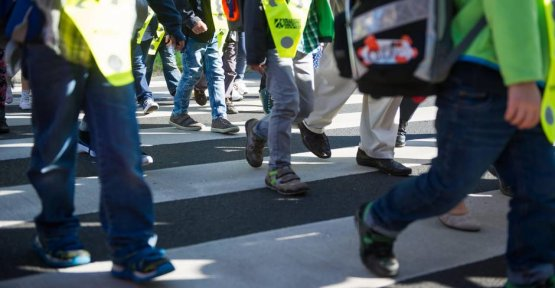 News from Germany: motorists at risk first graders in transport training