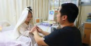 This four year old has leukemia and wanted a wedding celebration