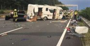 A2 Drama: camper at highway-accident tattered...