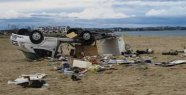 Tornado raged: Six tourists in a heavy storm...
