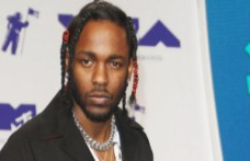 Rapper Kendrick Lamar headlining act at the summer festival in Hyde Park